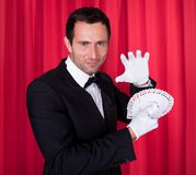 Portrait Of Magician Royalty Free Stock Photos