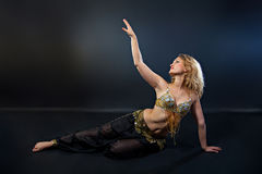 Portrait of a magnificent female belly dancer Stock Photo