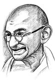 Portrait of Mahatma Ghandi Royalty Free Stock Image
