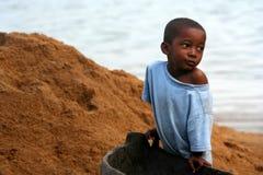 Portrait of a malagasy boy Stock Photo