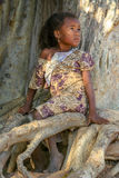 Portrait of a malagasy girl Stock Photos