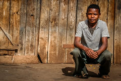 Portrait of a malagasy teenager Stock Images