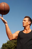 Portrait of a male basketball player Stock Photos