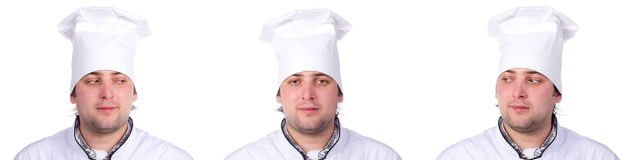 Portrait male chef Stock Image