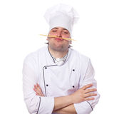 Portrait male chef Stock Images