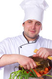 Portrait male chef Royalty Free Stock Images