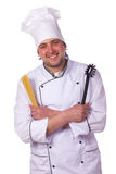 Portrait male chef Stock Photos
