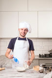 Portrait of a male chef Royalty Free Stock Photos