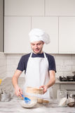 Portrait of a male chef Stock Photos