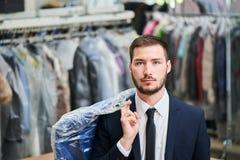 Portrait of a male client Stock Photos
