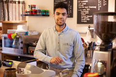 Portrait Of Male Coffee Shop Owner Stock Image