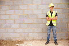 Portrait Of Male Construction Worker On Building Site Royalty Free Stock Photography