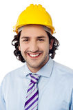 Portrait of a male construction worker Royalty Free Stock Images