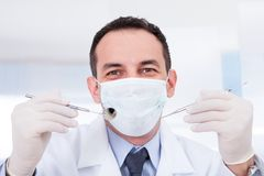 Portrait Of Male Dentist Stock Photo