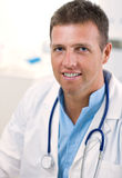 Portrait of male doctor Stock Images