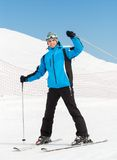 Portrait of male downhill skier Royalty Free Stock Photo