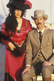 Portrait of male and female couple during Old West historical reenactment Stock Photos