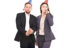 Office celebration stock images