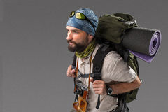 Portrait of a male fully equipped tourist Stock Photo