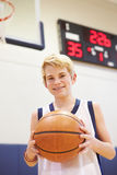 Portrait Of Male High School Basketball Player Royalty Free Stock Image
