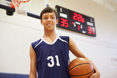 Portrait Of Male High School Basketball Player Royalty Free Stock Photography