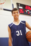 Portrait Of Male High School Basketball Player Royalty Free Stock Photos