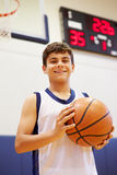 Portrait Of Male High School Basketball Player Stock Photography