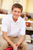 Portrait Of Male High School Student Wearing Uniform. Close Up Portrait Of Male High School Student Wearing Uniform Smiling Stock Images