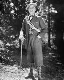 Portrait of male hiker stock photos