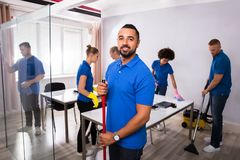 Portrait Of A Male Janitor royalty free stock image