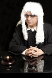 Portrait Of Male Lawyer with eyeglasses. On black background stock images