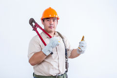 Portrait of male mechanic Royalty Free Stock Images