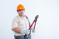 Portrait of male mechanic Stock Images