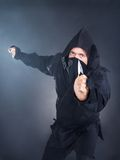 Portrait Of Male Ninja With Sword Royalty Free Stock Photo