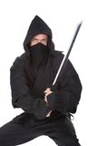 Portrait Of Male Ninja With Weapon Royalty Free Stock Image
