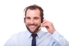 Portrait of male operator with headset Stock Photo