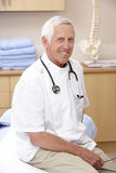 Portrait of male osteopath royalty free stock photo