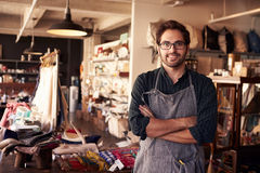 Portrait Of Male Owner Standing In Gift Store Royalty Free Stock Images