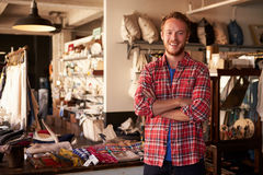 Portrait Of Male Owner Standing In Gift Store Royalty Free Stock Photo
