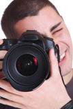 Portrait of male photographer Royalty Free Stock Photos