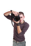 Portrait of male photographer Stock Images
