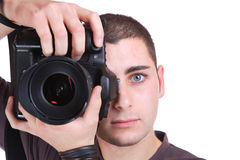Portrait of male photographer Stock Photo