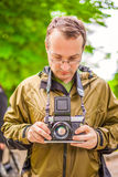 Portrait of male photographer Royalty Free Stock Photography