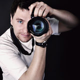 Portrait of the male photographer Royalty Free Stock Image