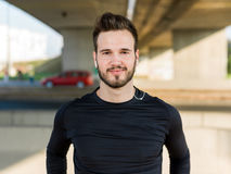 Portrait Of Male Runner after jogging Royalty Free Stock Photos