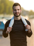 Portrait Of Male Runner after jogging Royalty Free Stock Photography