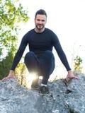 Portrait Of Male Runner after jogging Stock Image