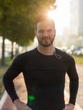 Portrait Of Male Runner On Urban Street Royalty Free Stock Photo