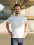 Portrait Of Male Runner On Urban Street Royalty Free Stock Image