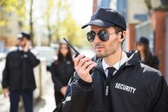 Portrait Of A Male Security Guard stock images